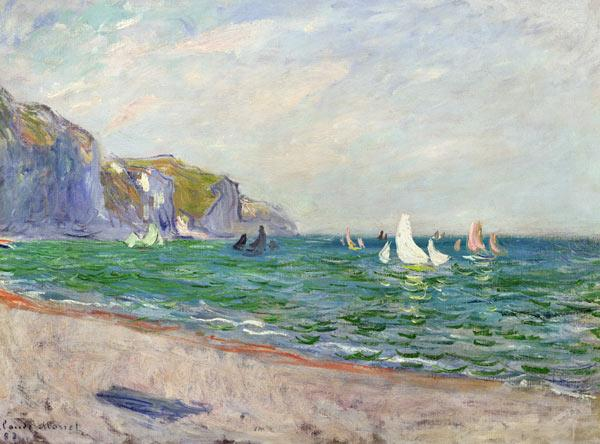 Boats below the Cliffs at Pourville