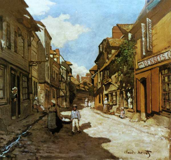 Dorfstrasse in the Normandy (Rue de of La Bavolle,
