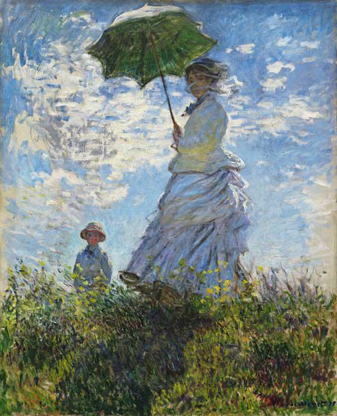 Woman with a Parasol, Madame Monet with her Son 1875/78