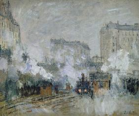 Exterior of the Gare Saint-Lazare, Arrival of a Train