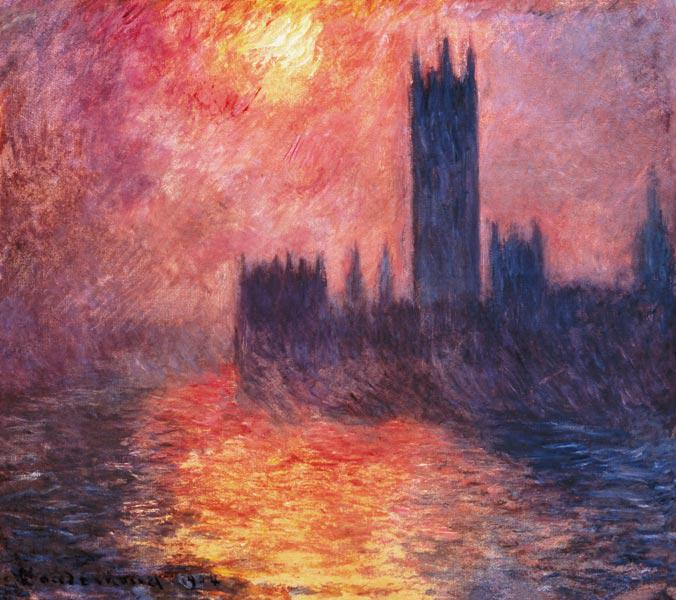 The Houses of Parliament, Sunset