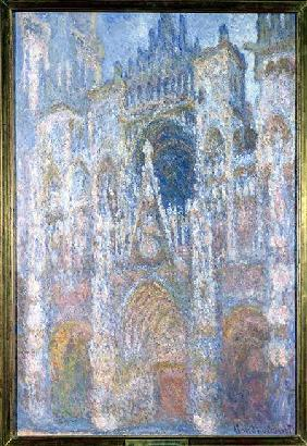 Rouen Cathedral, Blue Harmony, Morning Sunlight 1894