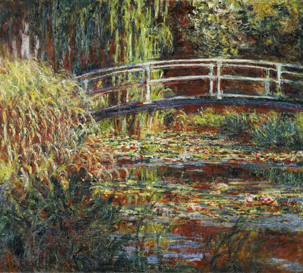 Waterlily pond and Japanese bridge (harmony in pin 1900