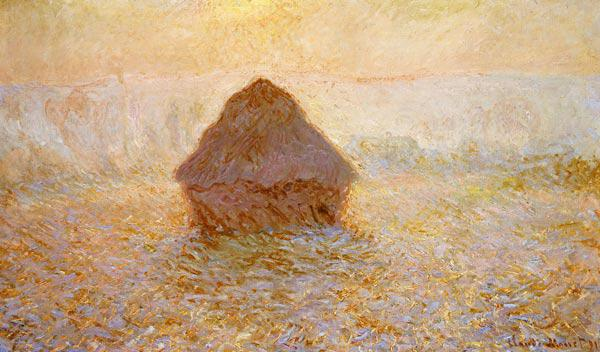 Haystacks, Sun in the Mist