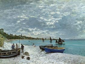 The Beach at Sainte-Adresse 1867
