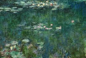 Waterlilies: Green Reflections, central section