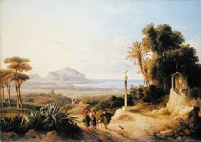 Carelli Consalvo - View of Palermo