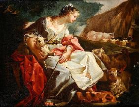 Rebecca as Shepherdess (oil on canvas)