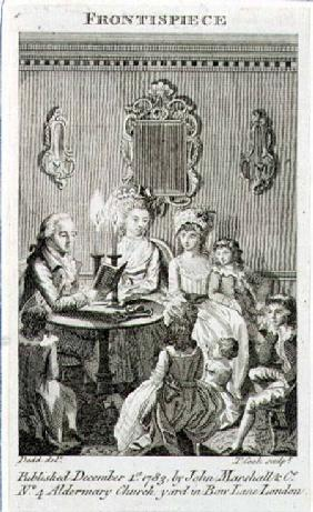 A Father Reading to his Family by Candlelight, engraved by Thomas Cook (1744-1818) frontispiece to a