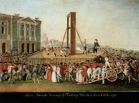 The Execution of Marie-Antoinette (1755-93)