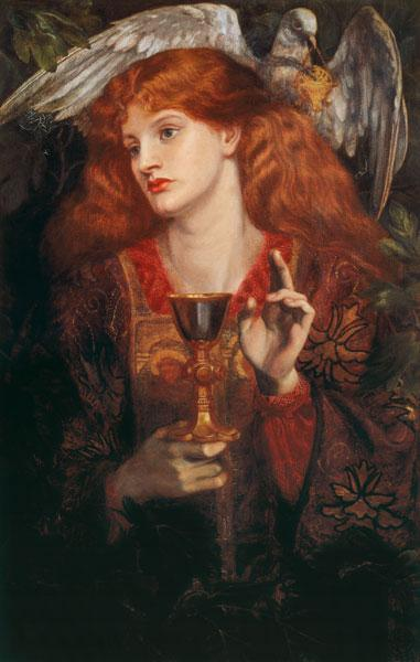 D.Rossetti, Damsel of Sanct Grail, 1874.
