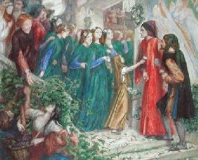 Beatrice Meeting Dante at a Marriage Feast Denies Him Her Salutation