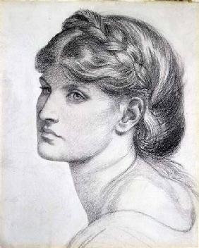 Portrait of Alexa Wilding, a study for 'The Bower Meadow'