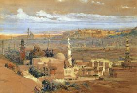 Cairo from the Gate of Citizenib, looking towards the Desert of Suez  on