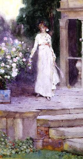 Lady on the Rose Terrace