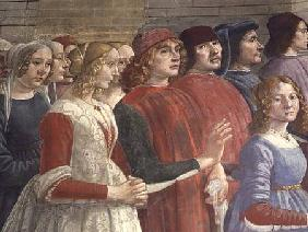 Florentine Onlookers, from the Cycle of St. Francis, Sassetti Chapel