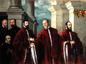 Portrait of Three Lawyers and Three Notaries
