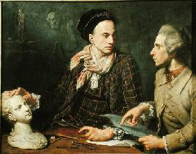 Self Portrait with Dominique Herment (1730-77)