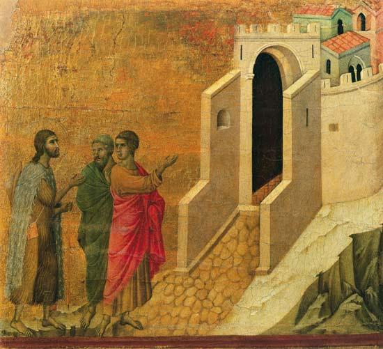 Maesta: Christ Appearing on the Road to - Duccio di Buoninsegna en ...
