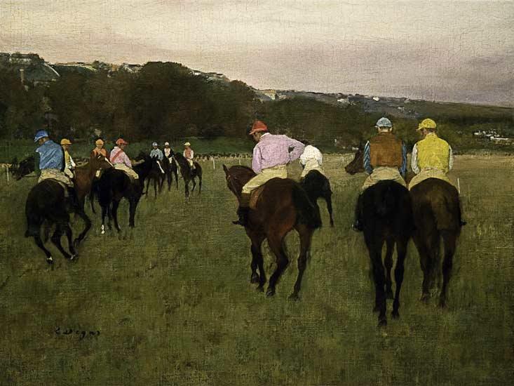 Edgar Degas - Carrera de caballos en Longchamp
