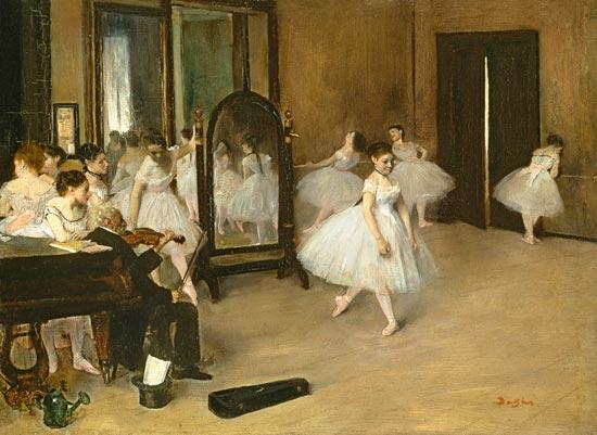 Edgar Degas - Clase de Ballet