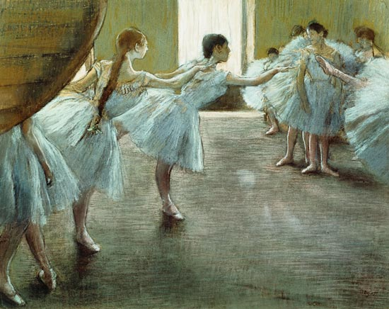 Edgar Degas - Dancers at Rehearsal,