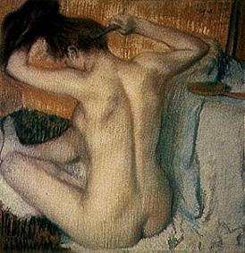 Edgar Degas - Woman at her toilet