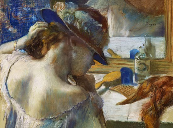 Edgar Degas - In front of the mirror