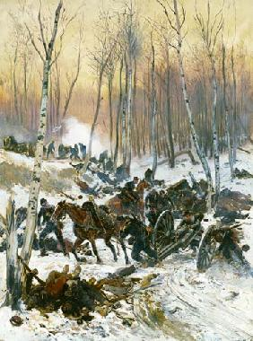 Detaille Edouard - Artillery Combat in a Wood during the Siege of Paris