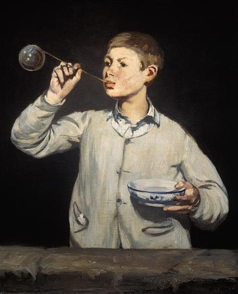 Boy Blowing Bubbles, 1867-69