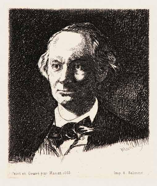 Portrait of the poet Charles Baudelaire (1821-1867)