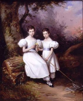 Pingret, Edouard : Portrait of Two Children