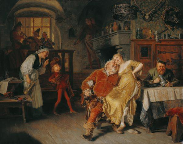 Falstaff in the tavern to the wild pig head (from