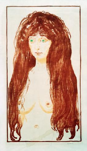 Sin, Female Nude with Red Hair and Green Eyes