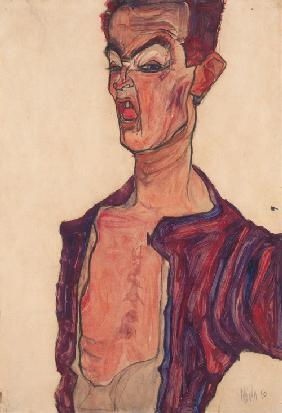 Self-Portrait, Grimacing