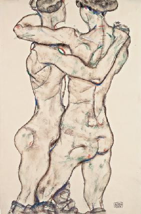 Naked Girls Embracing