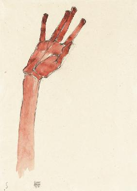 Raised red hand