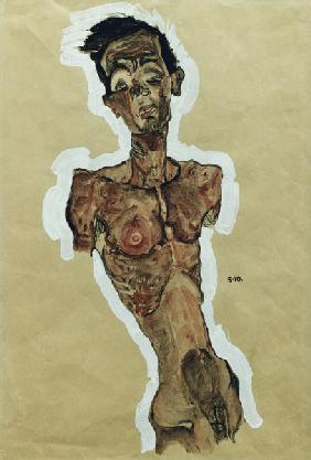 Self-Portrait Nude 1910