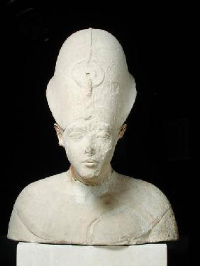 Bust of King Amenophis IV (Akhenaten) from Tell el-Amarna, New Kingdom