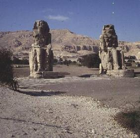The Colossi of Memnon, statues of Amenhotep III