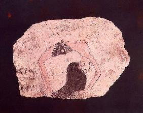 Fragment of a wall painting depicting an acrobatic dancer entertaining at court, New Kingdom, from D
