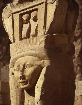 Hathor-headed column, from the Chapel of Hathor, Temple of Hatshepsut, New Kingdom