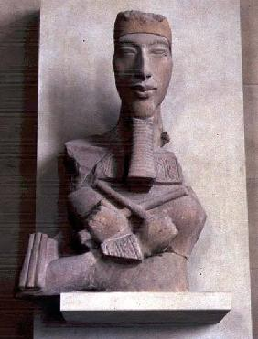 Osirid pillar of Amenophis IV (Akhenaten) from Karnak, Amarna period, New Kingdom