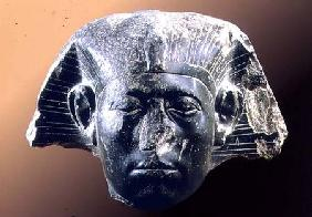 Portrait head of Sesostris III (1878-43 BC) from a sphinx