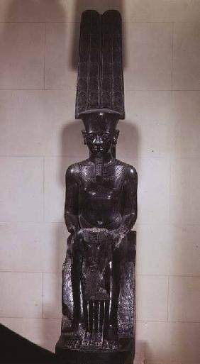 Statue of the God Amun protecting Tutankhamun, New Kingdom