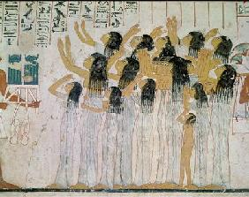 Weeping Women in a Funeral Procession, from the Tomb-Chapel of Ramose, Vizier and Governor of Thebes