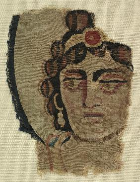 Fragment of a Woman's Head, Coptic
