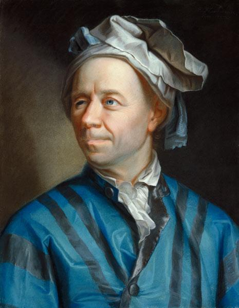 Portrait of the mathematician Leonhard Euler