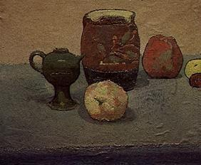 Jug and apples