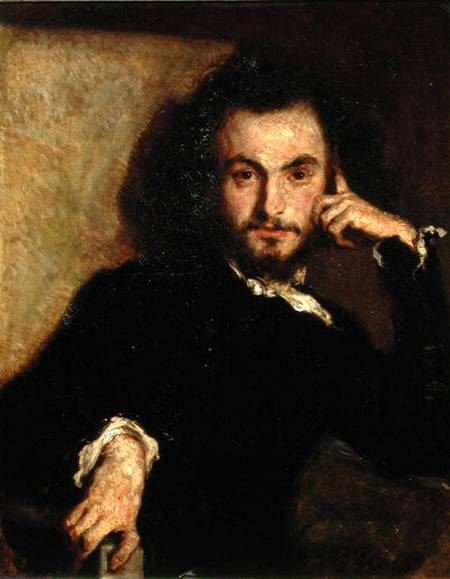 Emile Deroy - Portrait of Charles Baudelaire (1821-67)